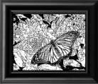 MONARCH BUTTERFLY GLASS ENGRAVING