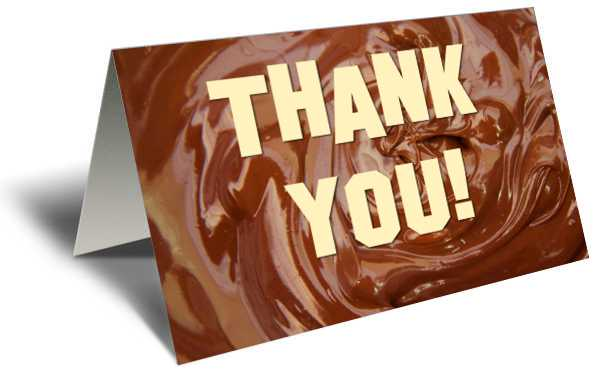 Thank you on chocolate frosting gift greeting card xld cards thank you on chocolate frosting gift greeting card m4hsunfo